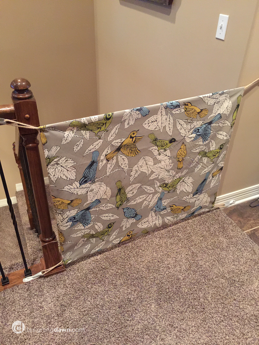 DIY Fabric Baby Gate from DesigningDawn.com-2